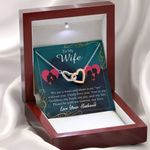 We Are a Team Interlocking Hearts Necklace Gift For Wife