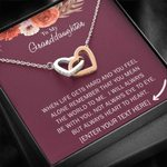 Interlocking Hearts Necklace Custom Name Gift For Granddaughter Always Heart To Heart