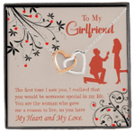 You Have My Heart And My Love Gift For Girlfriend Interlocking Hearts Necklace