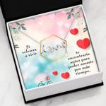 Podría Amarte Más Scripted Love Necklace With Message Card