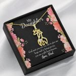 To My Daughter God Sent Daughter To Dad's Life Giraffe Couple Necklace