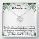 Love Your Son Like How You Do Gift For Mother In Law Love Knot Necklace