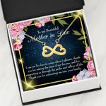 Thank For Being Welcoming Me Infinity Heart Necklace Gift For Mother In Law