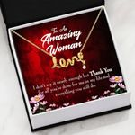 Thank For All You've Done For Me Scripted Love Necklace Gift For Mom