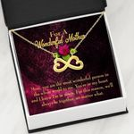 The Most Wonderful Person In The World Infinity Heart Necklace Gift For Mom