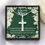 Love Always Tia Gift For Niece Custom Name Artisan Crafted Cross Necklace