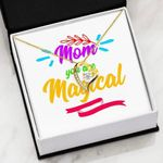 Mom You Are Magical 18K Gold Forever Love Necklace Gift For Mom