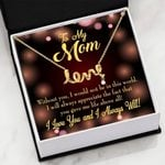 Without You Message Card Scripted Love Necklace Gift For Mom