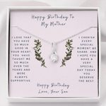 Son Gift For Mom Happy Birthday Alluring Beauty Necklace