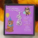 Purple Background Sweet Like Honey Giraffe Couple Necklace Dad Gift For Daughter