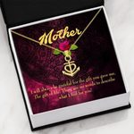 What I Feel For You Message Card Anchor Necklace Gift For Mom