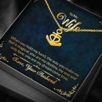 You Are My Dream Come True Gift For Wife 18K Gold Anchor Necklace