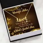 Today Is All About You Message Card Scripted Love Necklace Gift For Mom