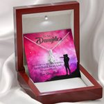 You Are Magical Gift For Daughter 14K White Gold Alluring Beauty Necklace With Mahogany Style Gift Box