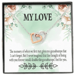 When We First Met Interlocking Hearts Necklace Gift For Lovers