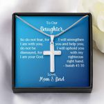 Parents Gift For Daughter Artisan Crafted Cross Necklace I Am Your God