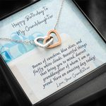 So Proud Of You Interlocking Hearts Necklace Grandfather Gift For Granddaughter