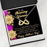 We Can't Be Together Infinity Heart Necklace Gift For Mom