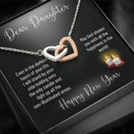 Interlocking Hearts Necklace Gift For Daughter Even In The Darkest Hours
