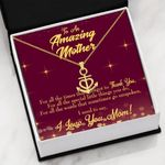 Thank You For All The Times 18K Gold Anchor Necklace Gift For Mom