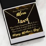 When I Think Of Happiness Message Card Scripted Love Necklace Gift For Mom