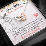 Interlocking Hearts Necklace Anniversary Gift For Wife My Everything