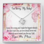 Our Love Should Never End Love Knot Necklace Gift For Lovers