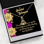 Special Woman The Special Person In My Life Anchor Necklace