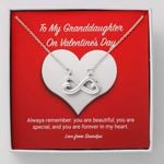 You Are Forever In My Heart Gift For Granddaughter Infinity Heart Necklace
