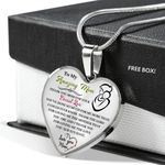 To My Amazing Mom Thank You For Your Love Heart Pendant Necklace