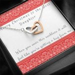 Interlocking Hearts Necklace Gift For Daughter Christmas A Hug From Me