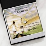 My Heart Is And Always Will Be Yours Mom Gift For Woman18K Gold Forever Love Necklace