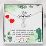 Message Card Alluring Beauty Necklace Gift For Girlfriend I Thank God