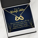 Infinity Heart Necklace Gift For Mom Nothing Can Stop Mom From Loving Her Children