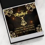 My Other Mother My Best Blessing Anchor Necklace