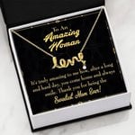 It's Truly Amazing Scripted Love Necklace Gift For Mama