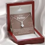 Message Card Alluring Beauty Necklace Gift For Partner Perfect Gift Of My Life