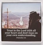 Trust In The Lord With All Your Heart Inspirational Message Gift Alluring Beauty Necklace