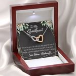 Interlocking Hearts Necklace Gift For Wife I Want to Grow Old With You