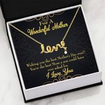 The Best Mom A Son Could Have Ever Asked For Scripted Love Necklace Son Gift For Mom