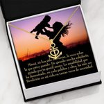 Mom And Child Happy Mother's Day Anchor Necklace