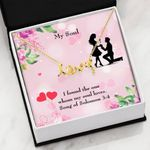 Song Of Solomon Gift For Lover 18k Gold Scripted Love Necklace