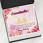 Infinity Heart Necklace Birthday Gift For Grandma You Are An Awesome