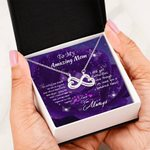 Love You Always Purple Gift For Mom Infinity Heart Necklace
