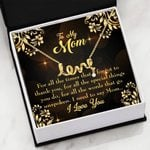 Thank You For All The Times Gift For Mom Scripted Love Necklace
