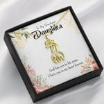 To My Daughter In My Heart Forever Giraffe Couple Necklace