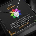 You Have Nurtured And Cared Since The Day Of My Birth Love Knot Necklace Gift For Mom