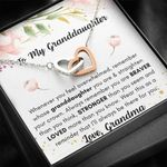 Grandma Gift For Granddaughter I Will Always Be There For You Interlocking Hearts Necklace