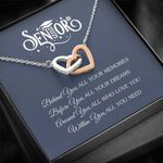 Graduation Gift Senior 2021 Before You All Your Dreams Interlocking Hearts Necklace