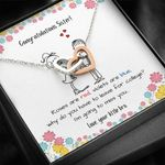Little Bro Gift For Sister On Graduation I Am Going To Miss You Interlocking Hearts Necklace